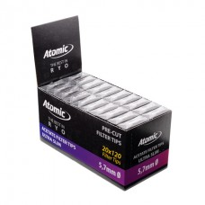 Atomic Filter Tips Extra Slim 5,7x14mm 6x20 Pre-Cut Filters Per Box 20 Boxes Per Display