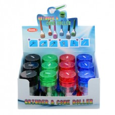Atomic Alu Joint Grinder ø32mm 4 Parts 4 Colors Assorted 12 PER CONFEZIONE